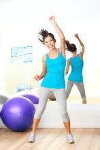 Aerobik zumba siłownia instruktor tańca