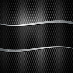 Abstract vector metal black transparency background illustration