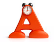 3D Funny  Alarm Clock in form of letter A