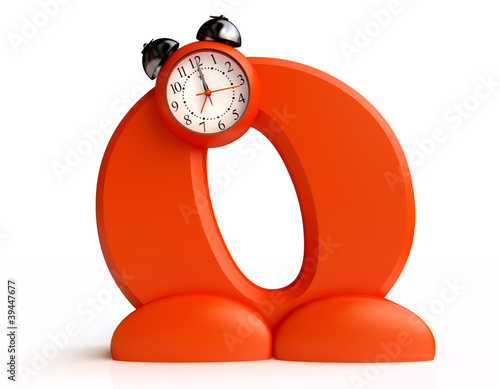 Funny Alarm Clock in  form of  Letter O