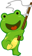 Frog Celebrating