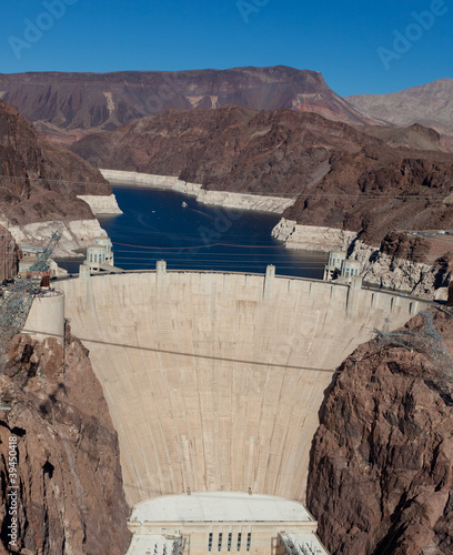 Hoover Dam on Colorado river and Lake Meade Arizona