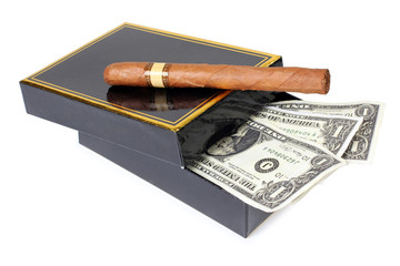 Cigar and money