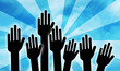 voter à main levée - équipe