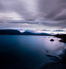 Lake in night