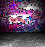 Graffiti wall urban street art painting - 39454822