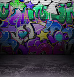 Graffiti wall urban street art painting - 39454826