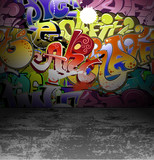 Graffiti wall urban street art painting - 39454827