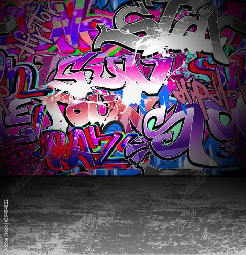 fototapete graffiti wall urban street art painting. Black Bedroom Furniture Sets. Home Design Ideas