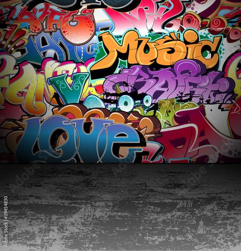 Malowidło ścienne graffiti malarstwo miejskie