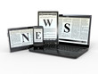 Media. Electronic news. 3d