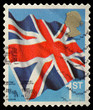 Union Jack Flag Postage Stamp from England