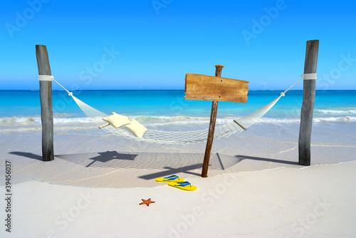 Voyage aux Caraïbes,repos sur hamac