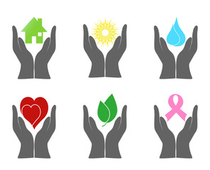 Vector illustration of a set of environment icons