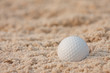 Golf ball  and sand bunker