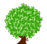 Vector illustrationof a  tree for St. Patrick's Day