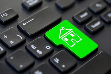 Touche clavier d'ordinateur maison