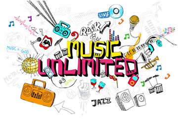 Music Unlimited © vectomart