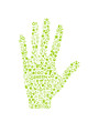 go green eco pattern on hand palm