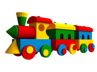 3D Colorful Toy Train