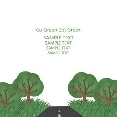 Go green get green.