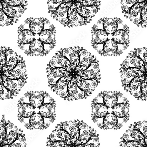 Vector illustartion of a seamless floral background