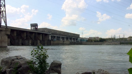 Hydro power plant on river