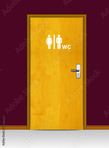 WC Water Cycle door poster
