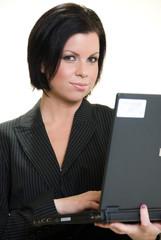 Attractive brunette caucasian american businesswoman
