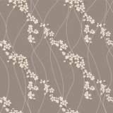 Fototapety Vector seamless pattern with sakura branch