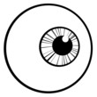 Outlined Eye Ball