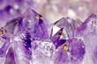 Leinwanddruck Bild - amethyst makro, Kristalllandschaft