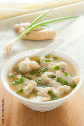 Asian wonton soup