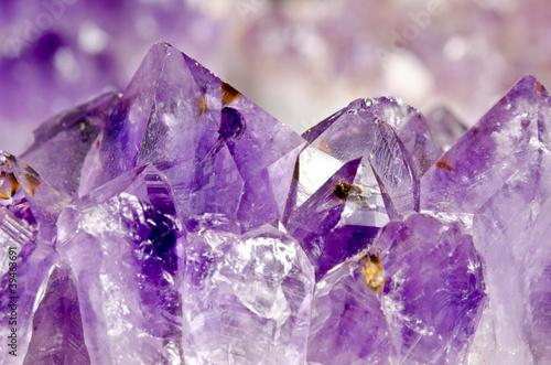 Leinwanddruck Bild amethyst makro, Kristalllandschaft