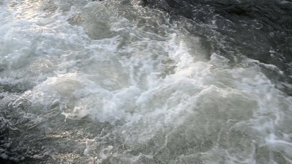 Fast rapid, wild water footage