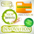 "Tags and stamps ""Innovation"""