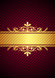 Vector gold & bourdeaux background
