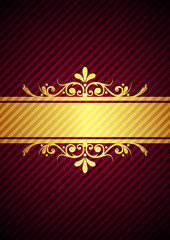 Vector gold & bourdeaux background