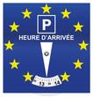 disque de stationnement et drapeau europe