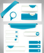 set of blue  banners, bookmarks for your site