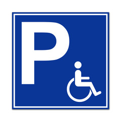Señal aparcamiento para minusvalidos