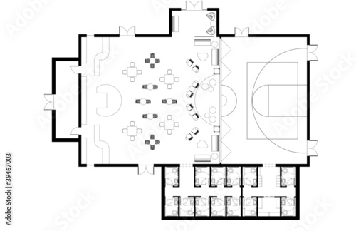 Concept Lounge Entertainment Space - Floor Plan