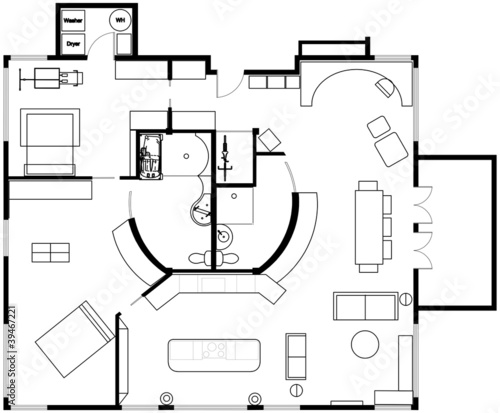 Concept 2 Bedroom Open Concept Condo - Floor Plan