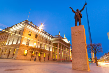 Jim Larkin monument in Dublin city centre, Ireland