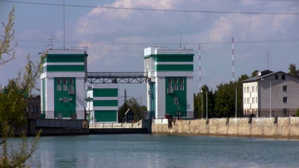 Gateway to the river in Novosibirsk