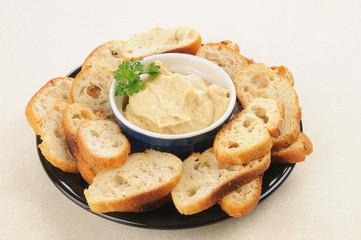 Hummus snack plate