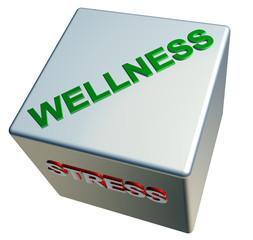 3D Würfelgegensätze - WELLNESS - STRESS
