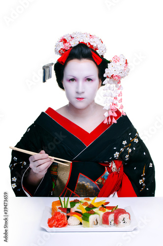 geisha and sushi