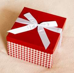 Gift box with a bow