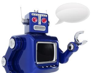 robot is talking